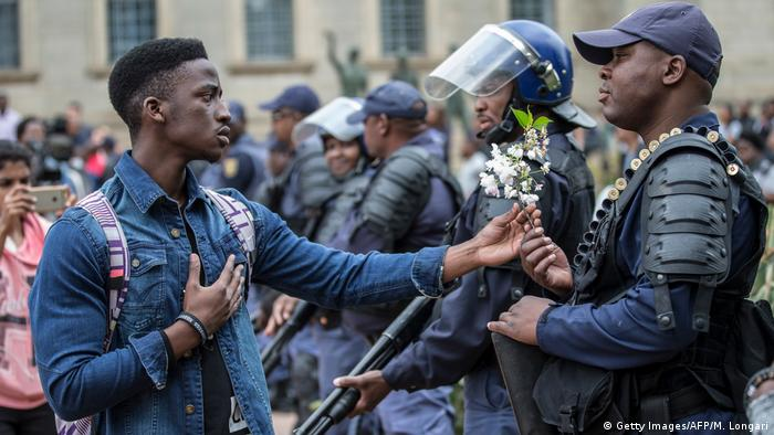 Südafrika Proteste Studenten Universität (Getty Images/AFP/M. Longari)