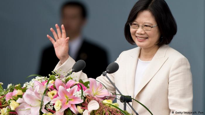 Taiwanesische Präsidentin Tsai Ing-Wen in Taipeh (Getty Images/A. Pon)