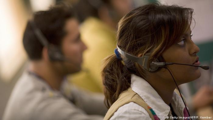 A call center in India (Getty Images/AFP/F. Kember)