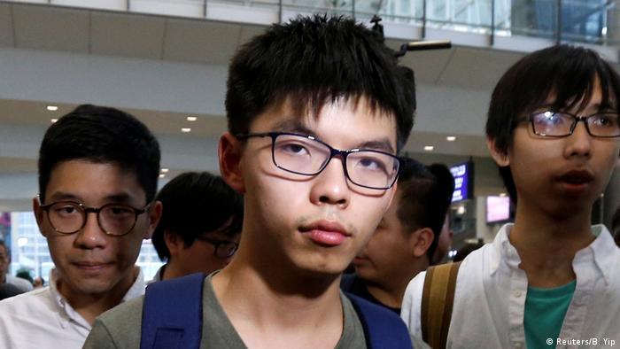 Hongkong Joshua Wong Ankunft nach Ausweisung aus Thailand