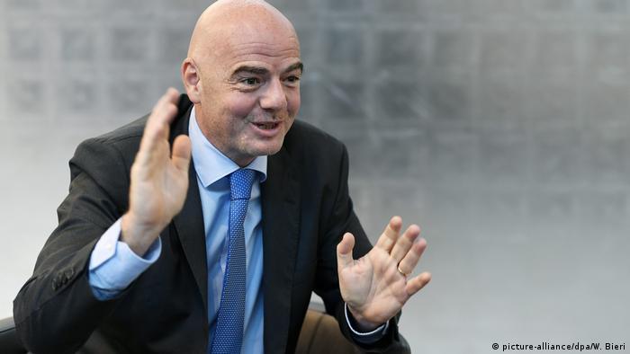 Schweiz Zürich - Fifa Präsident Gianni Infantino während World Summit on Ethics and Leadership in Sports