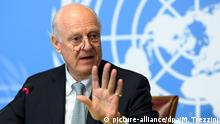 Schweiz Genf Staffan de Mistura press conference
