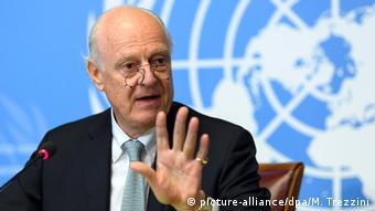 Schweiz Genf Staffan de Mistura press conference