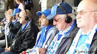 Hertha fans watching a match