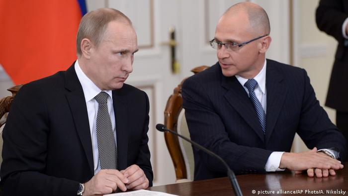 Vladimir Putin and Sergey Kiriyenko (picture alliance/AP Photo/A. Nikolsky)