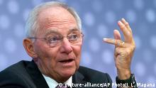 USA Washington Schäuble bei Jahrestagung IWF und Weltbank