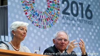 Β. Σόιμπλε και Κρ. Λαγκάρντ στην ετήσια Σύνοδο ΔΝΤ και Παγκόσμιας Τράπεζας, Οκτώβριος 2016
