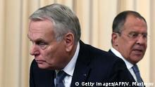 Russland Außenminister Sergei Lavrov und Jean-Marc Ayrault in Moskau