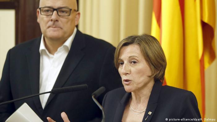 Spanien Barcelona Katalanisches Parlament Votum für Unabhängigkeitreferendum 2017 (picture-alliance/dpa/A. Dalmau)
