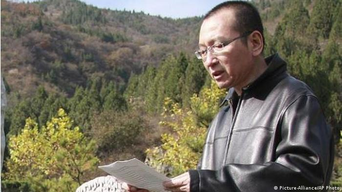 China Dissident Liu Xiaobo in Peking (Picture-Alliance/AP Photo)
