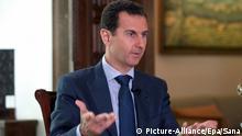 Der syrische Präsident Assad gibt Interview zu dänischen TV-Sender