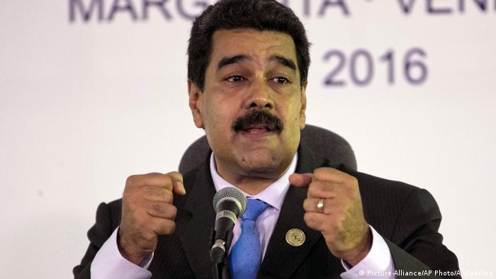 Venezuela Präsident Nicolas Maduro (Picture-Alliance/AP Photo/A. Cubillos)