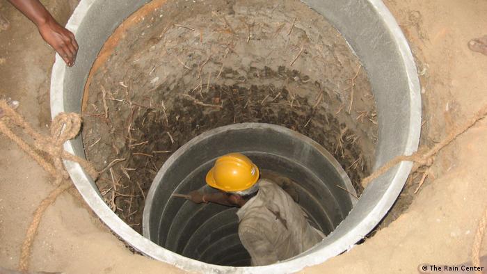 Indien Brunnenbau