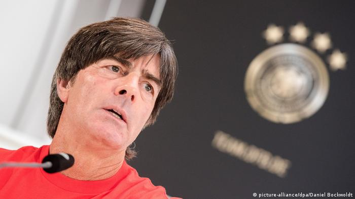 Germany coach Joachim Löw at a press conference