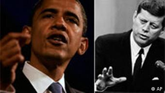 Combo Bildkombo Barack Obama (links) und John F. Kennedy