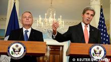 USA US-Außenminister John Kerry und französicher Außenminister Jean-Marc Ayrault treffen sich in Washington