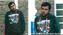 HANDOUT - In Zusammenhang mit den bei der Durchsuchung einer Wohnung in Chemnitz (Sachsen) gefundenen Sprengstoffspuren gibt die Polizei am 08.10.2016 diese Fotos des gesuchten Syrers Dschaber Al-Bakr zur Öffentlichkeitsfahndung heraus. Aus Sicherheitskreisen erfuhr die Deutsche Presse-Agentur, dass es einen islamistischen Hintergrund geben könnte. Foto: Polizei Sachsen/dpa (ACHTUNG:Verwendung nur für redaktionelle Zwecke im Zusammenhang mit der laufenden Fahndung und mit Hinmweis auf die Quelle: Polizei Sachsen/dpa - Bestmögliche Qualität) |