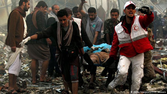 Jemen Luftangriffe in Sanaa mit Dutzenden Toten und Verletzten