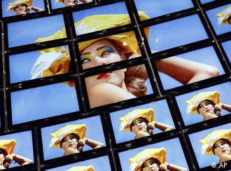 Flat screens are seen at the stand of a home entertainment company one day ahead of the official opening of the the consumer electronicis fair 'IFA 2008' in Berlin, Germany, Thursday, Aug. 28, 2008.