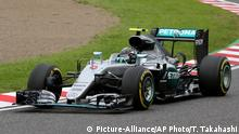 Formel Eins Grand Prix Qualifikation in Japan Nico Rosberg