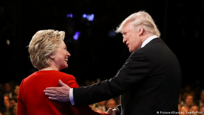 US Präsidentschaft TV Debatte Hillary Clinton und Donald Trump