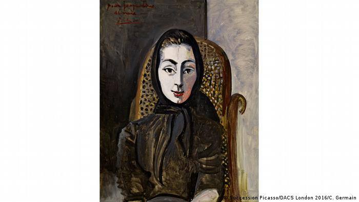 Portrait of Jacqueline in a Black Scarf Pablo Picasso 1954 (Succession Picasso/DACS London 2016/C. Germain)