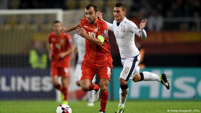 Fußball WM-Qualifikationsspiel Mazedonien gegen Italien (Getty Images/C. Villa)