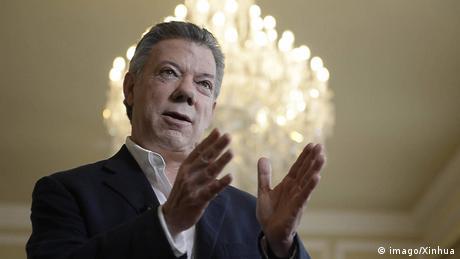 Kolumbien Präsident Juan Manuel Santos (imago/Xinhua)