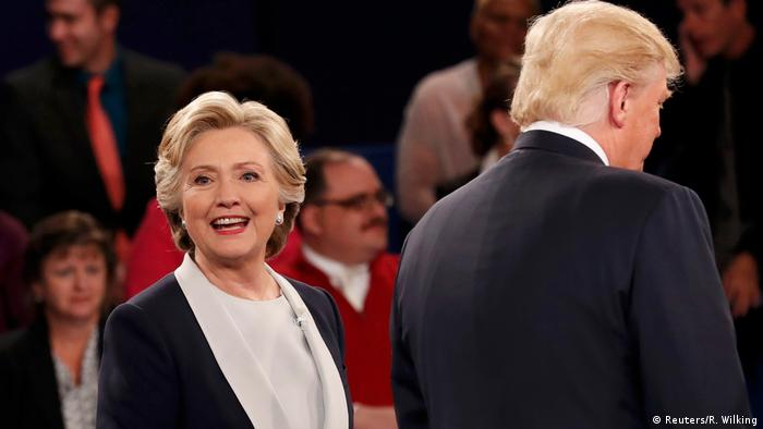 US TV Debatte Trump vs Clinton (Reuters/R. Wilking)