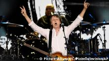 Paul McCartney performs on day 2 of the 2016 Desert Trip music festival at Empire Polo Field on Saturday, Oct. 8, 2016, in Indio, Calif. (Photo by Chris Pizzello/Invision/AP)