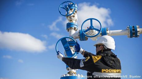 Russland Öl - Förderanlage Purneftegaz (picture -alliance/dpa/Sputnik/E. Biyatov)