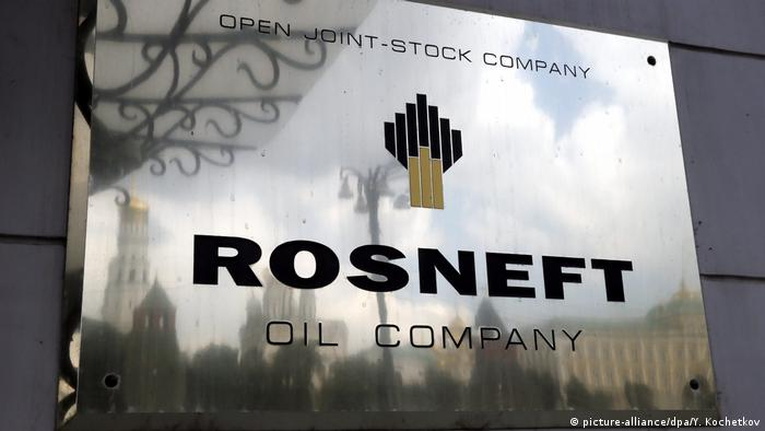Rosneft logo (picture-alliance/dpa/Y. Kochetkov)
