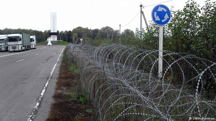 Белорусский пункт пропуска Веселовка на границе с Россией и Украиной