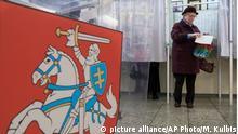 Lithauen Vilnius - Parlamentswahl
