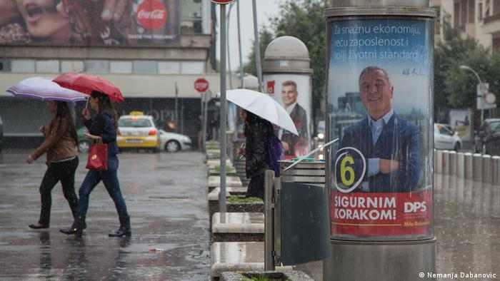 Montenegro Parlamentswahl Wahlkampf in Podgorica (Nemanja Dabanovic)