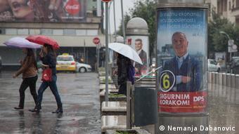 Montenegro Parlamentswahl Wahlkampf in Podgorica