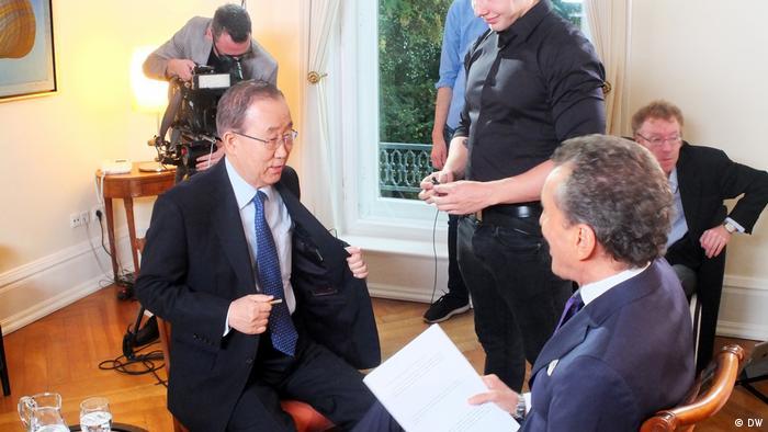 BM Genel Sekreteri Ban Ki Moon, DW'nin Conflict Zone programına katıldı