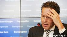 10.10.2016 Pressekonferenz in Luxemburg zur Hilfe für Griechenland Jeroen Dijsselbloem, niederländischer Finanzminister, Chef der Eurogruppe DW/B. Riegert