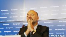 Luxemburg - Pressekonferenz zur Hilfe für Griechenland - Pierre Moscovici, EU-Kommissar für Währung und Wirtschaft