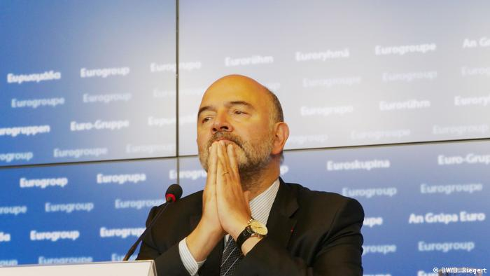 Luxemburg - Pressekonferenz zur Hilfe für Griechenland - Pierre Moscovici, EU-Kommissar für Währung und Wirtschaft (DW/B. Riegert)