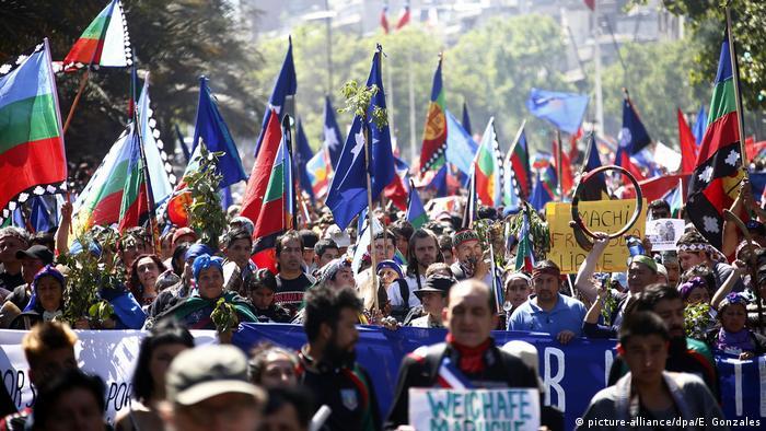 Chile Mapuche Widerstand in Santiago