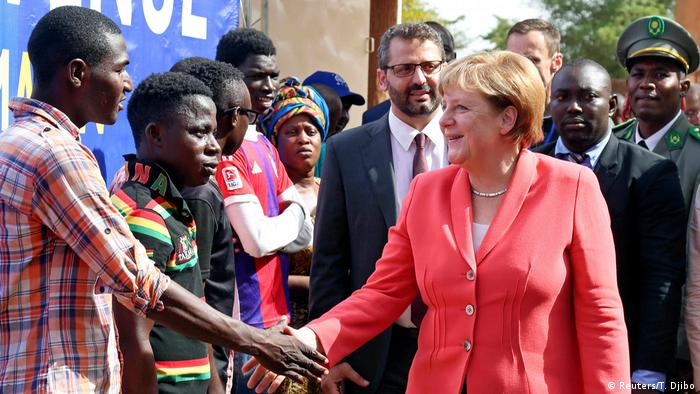 Chancellor Merkel during a visit to Niger