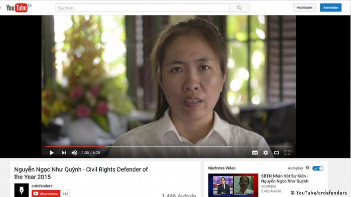 Screenshot YouTube Nguyen Ngoc Nhu Quynh