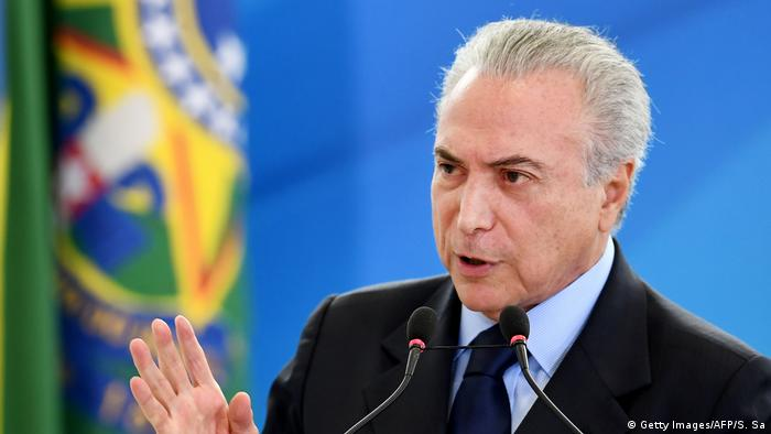Brasilien Michel Temer (Getty Images/AFP/S. Sa)