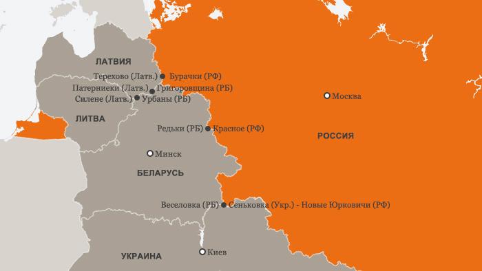Пропускные пункты на границах Беларуси