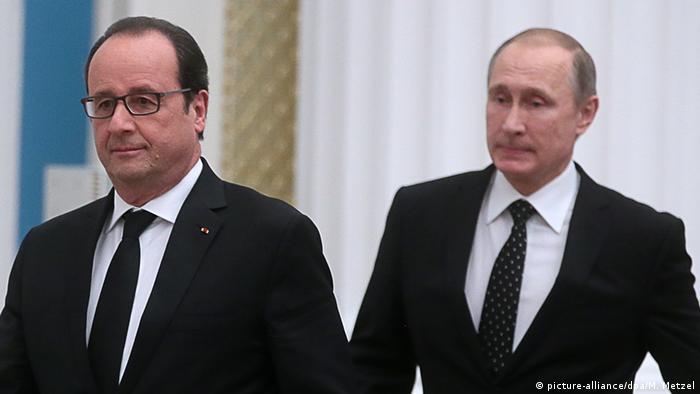 Francois Hollande i Vladimir Putin u Moskvi 2015.