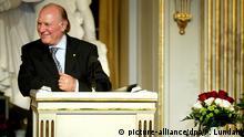 Stockholm, Imre Kertesz bei Nobelvorlesung