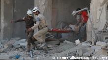 Syrien Aleppo Bergung Opfer Luftangriff