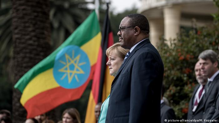 Deutschland Merkel in Äthiopien