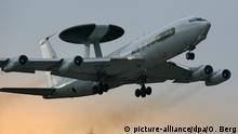 AWACS-Aufklärungsflugzeug NATO-Airbase in Geilenkirchen